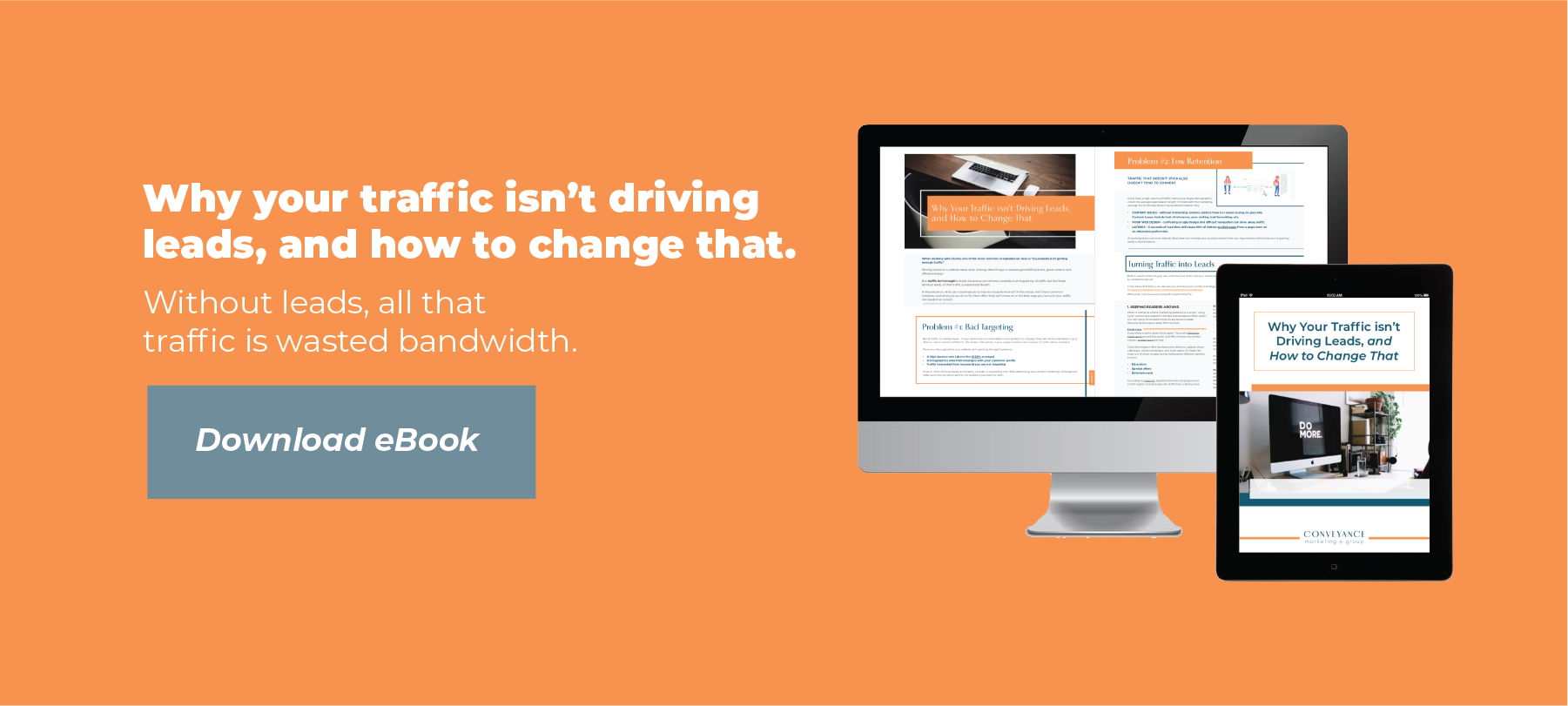 Conveyance eBook on driving leads to your website