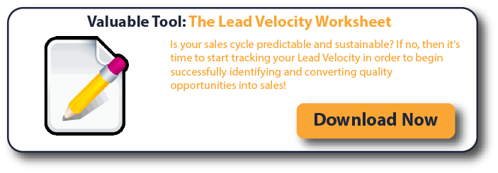 Valuable Tool: The Lead Velocity Worksheet