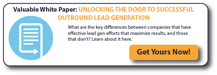 Valuable White Paper: Unlocking The Door to Successful Outbound Lead Generation