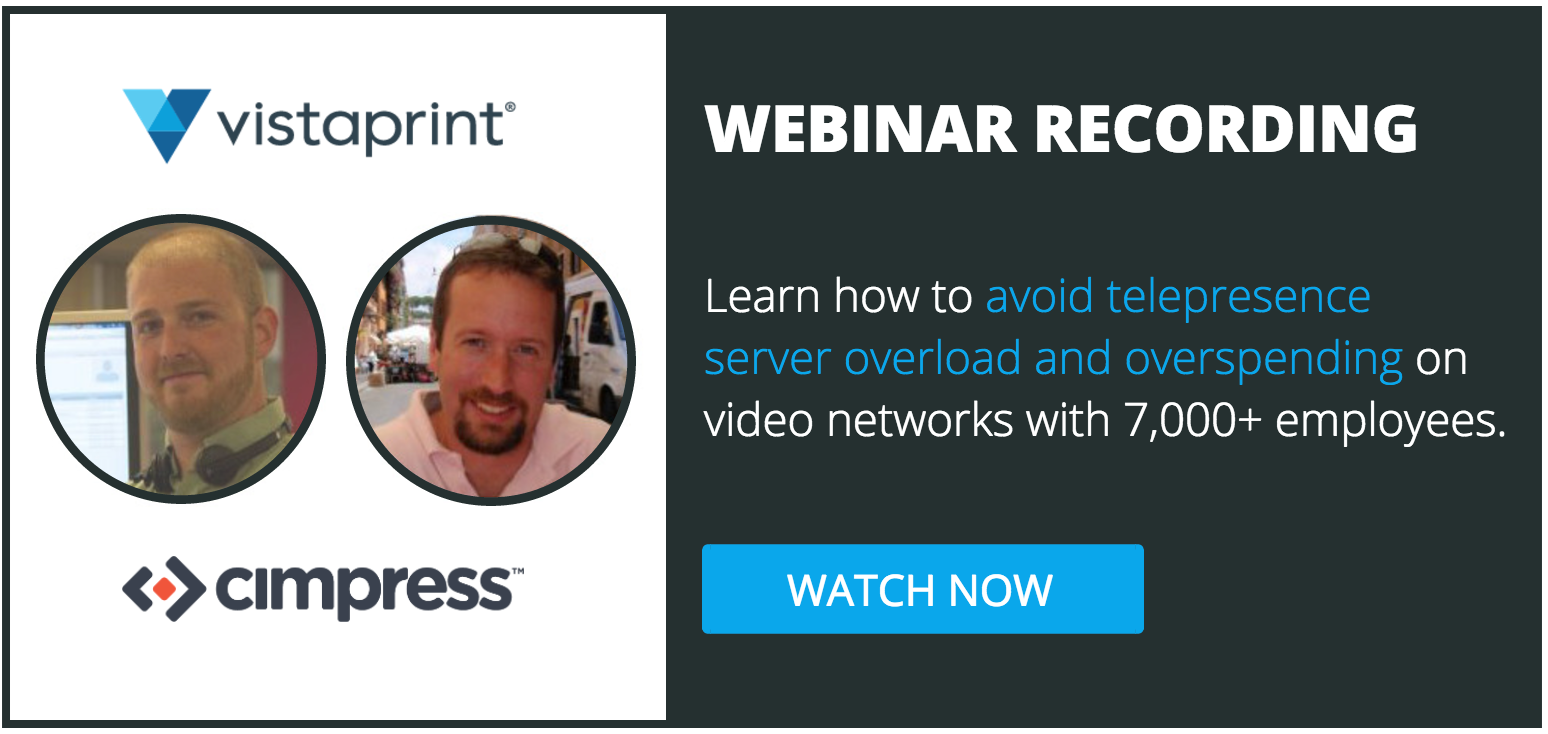 Webinar to avoid telepresense server overload and overspending on video conferencing