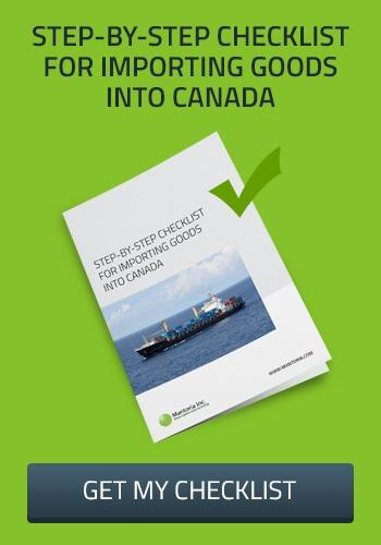 Checklist importing goods into canada