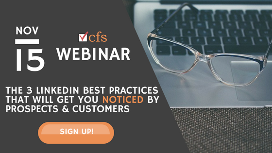 Free Sales Webinar: The 3 LinkedIn Best Practices That Will Get You Noticed by Prospects & Customers
