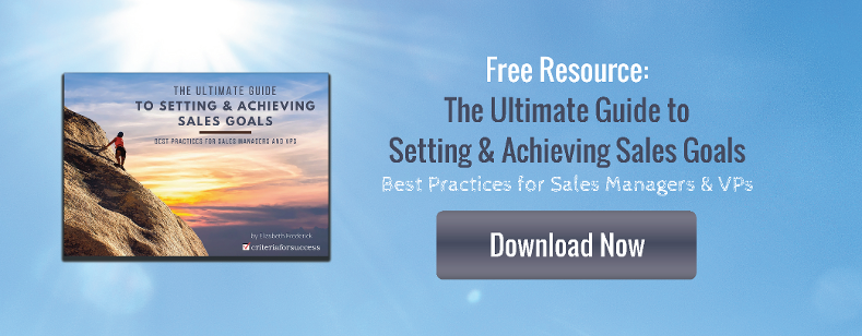 Free Resource: The Ultimate Guide to Setting & Achieving Sales Goals