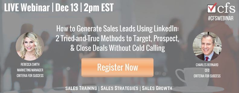 Free Webinar: How to Generate Sales Leads Using LinkedIn