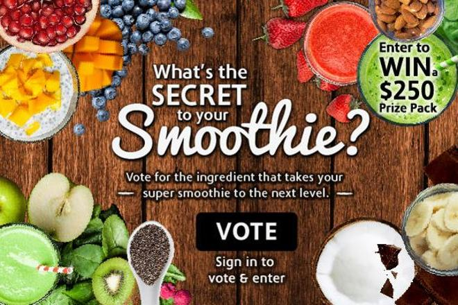 What's the secret to your smoothie?