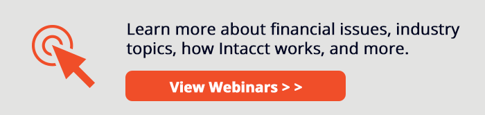 Intacct Webinars