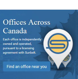 Find a Sunbelt Canada office near you