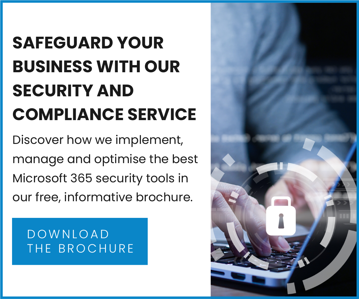 Security and compliance brochure CTA