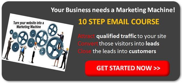 10 step marketing machine email course cta