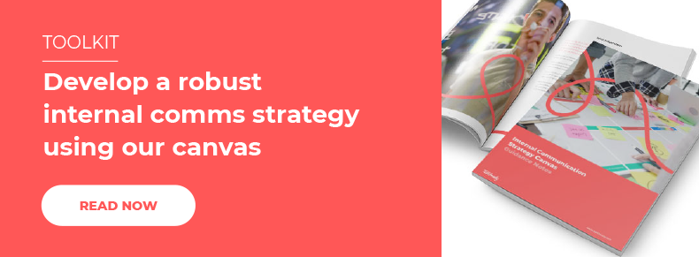 Develop a robust internal comms strategy using our canvas
