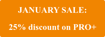 JANUARY SALE: 25% discount on PRO+