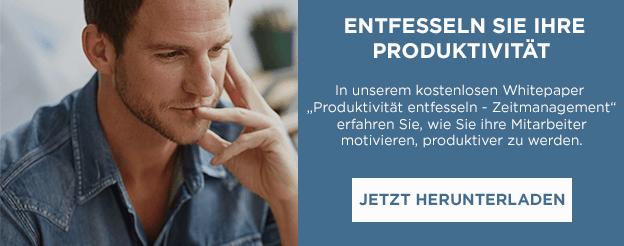 """Jetzt Whitepaper """"Produktivität entfesseln - Zeitmanagement"""" herunterladen"""