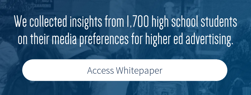 We collected insights from 1,700 high school students on their media preferences for higher ed advertising. Access Report.