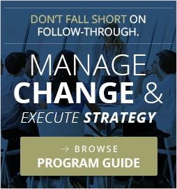 Manage Change - View OnPoint Consulting' Strategy Execution Program Guide