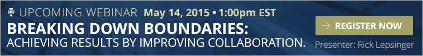 Register for our upcoming webinar : Breaking Down Boundaries: Improving Collaberation