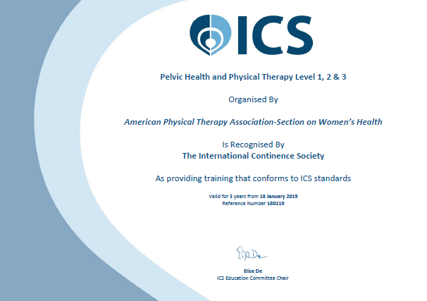 ICS Approved Course - Pelvic Health Physical Therapy SoWH