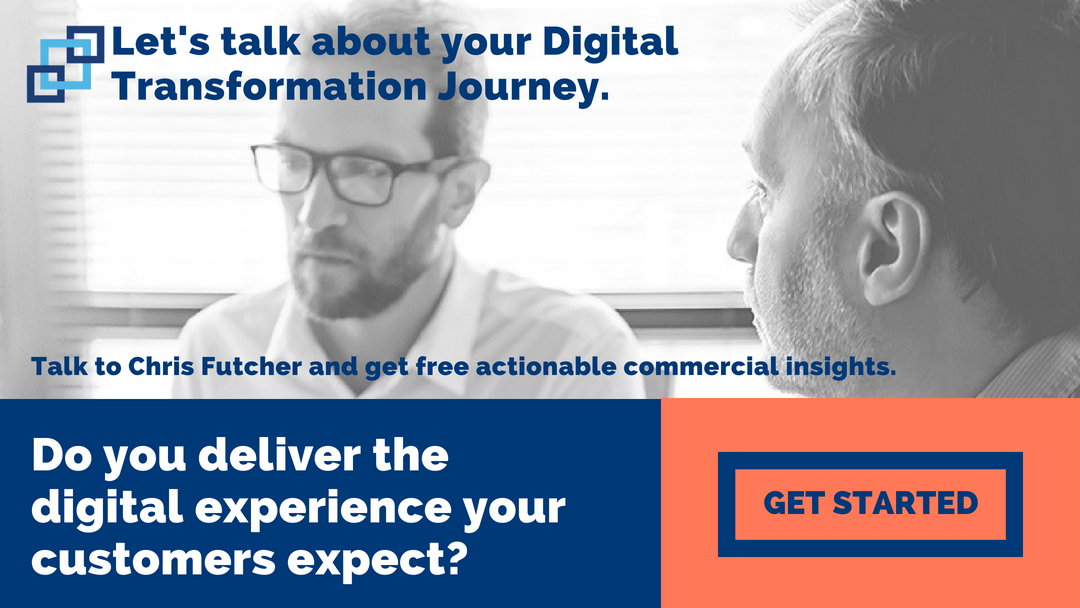 Let's talk about your digital transformation journey. Talk to Chris Futcher and get free actionable commercial insights.
