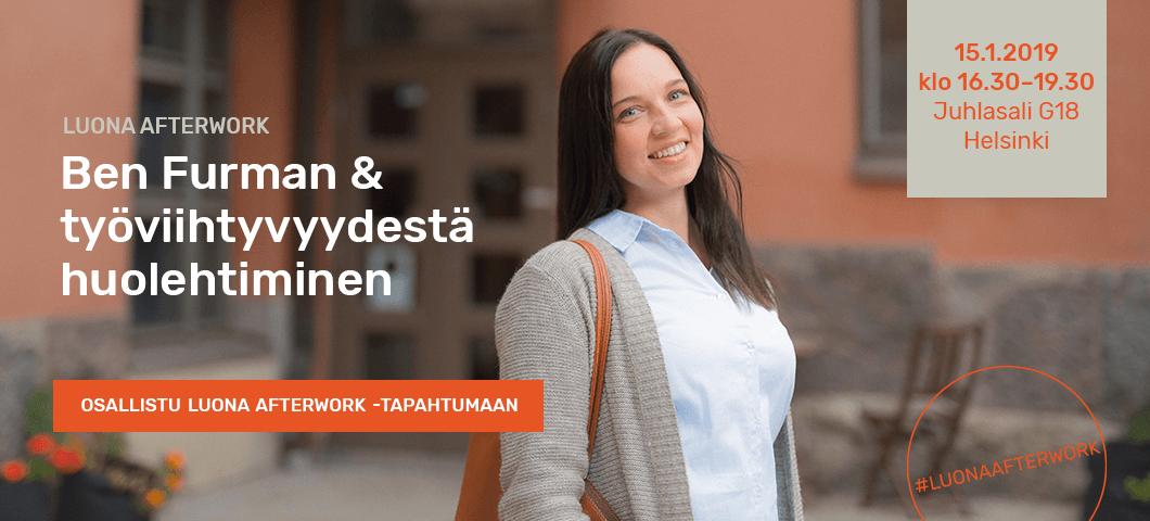 Luona Afterwork | Ben Furman & työviihtyvyydestä huolehtiminen