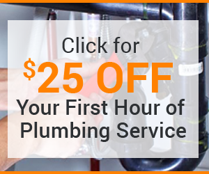 Click for $25 off   your first hour of   plumbing service