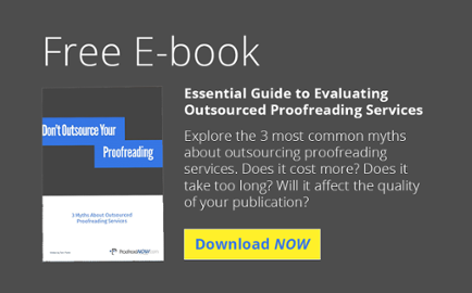 Free E-book: Guide to Evaluating Outsourced Proofreading Services