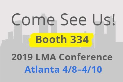 Visit us at the LMA 2019 conference in Atlanta