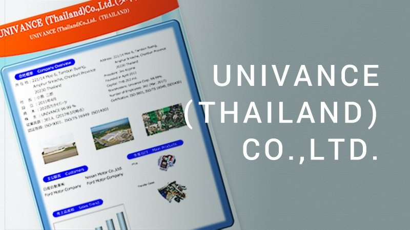UNIVANCE THAILAND CO.,LTD. PDF