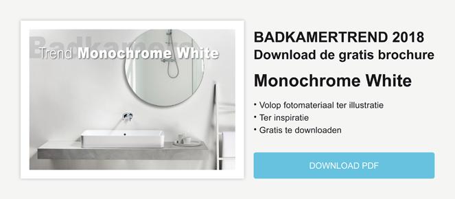 Badkamertrend Monochrome White