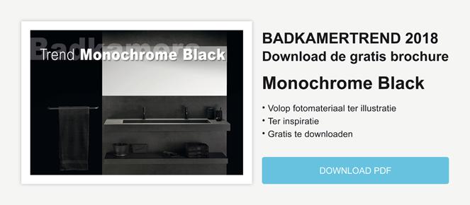 Badkamertrend Monochrome Black
