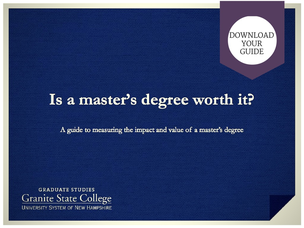 Download your guide:  is a master's degree worth it?