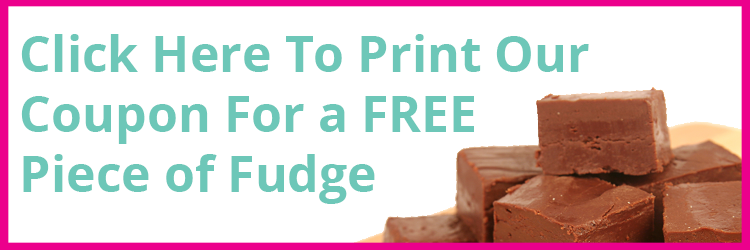 Free Piece of Fudge at Steibers Sweet Shoppe