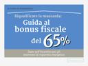 guida al bonus fiscale del 65%
