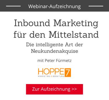 Inbound Marketing für den Mittelstand: Webinar Anmeldung