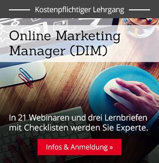 Lehrgang: Online Marketing Manager – Infos & Anmeldung