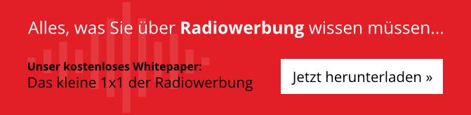 Das kleine 1x1 der Radiowerbung - Jetzt kostenloses Whitepaper downloaden