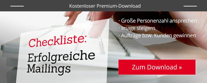 Checkliste erolfgreiches Mailing – Download