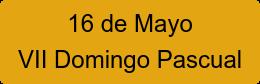 16 de Mayo VII Domingo Pascual