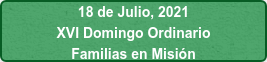 18 de Julio, 2021 XVI Domingo Ordinario Familias en Misión