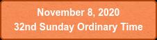 November 8, 2020  32nd Sunday Ordinary Time