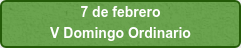 7 de febrero V Domingo Ordinario