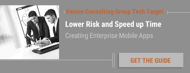 Lower Risk Creating Enterprise Mobile Apps