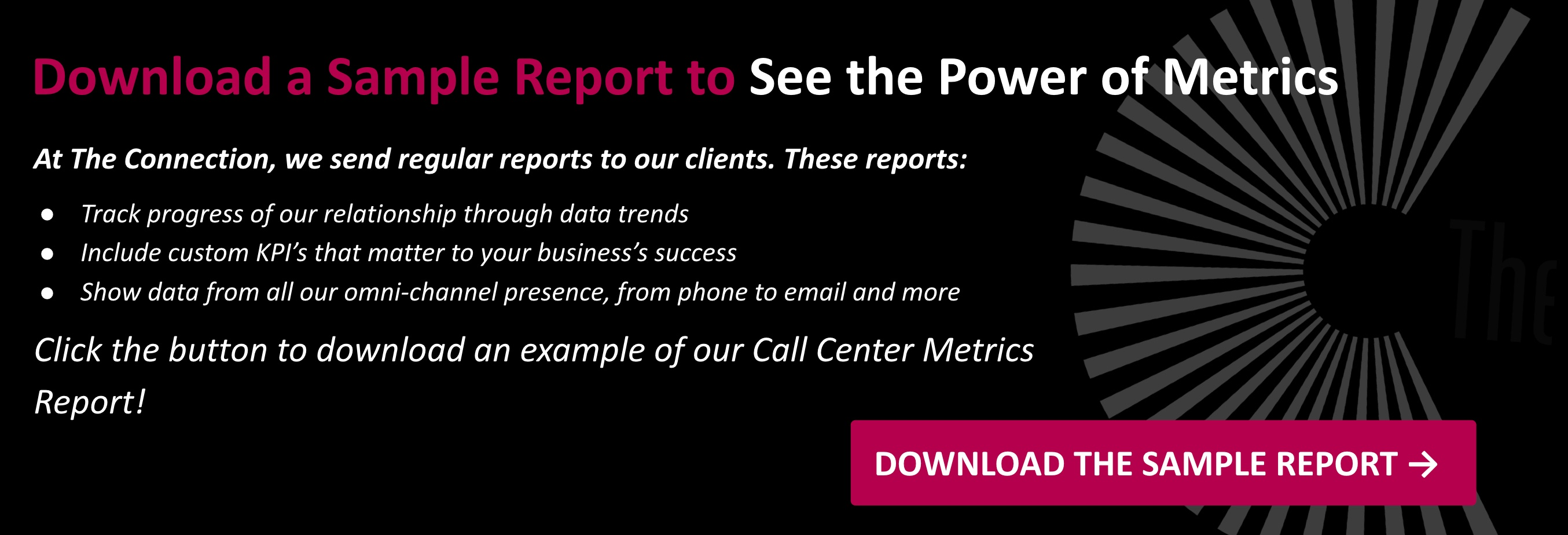 sample call center metrics report