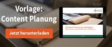 Content Planungsvorlage