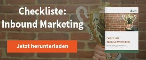Checkliste Inbound Marketing