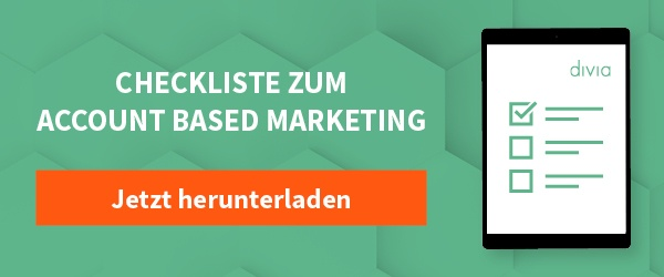 Checkliste zum Account-Based-Marketing hier herunterladen!