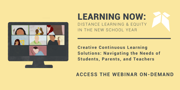 "Join the free Education Elements Webinar, ""Creative Continuous Learning Solutions: Navigating the Needs of Students, Parents, and Teachers"" on-demand"