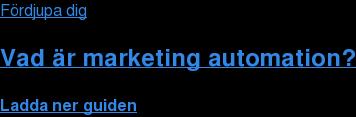 Fördjupa dig  Vad är marketing automation? Ladda ner guiden