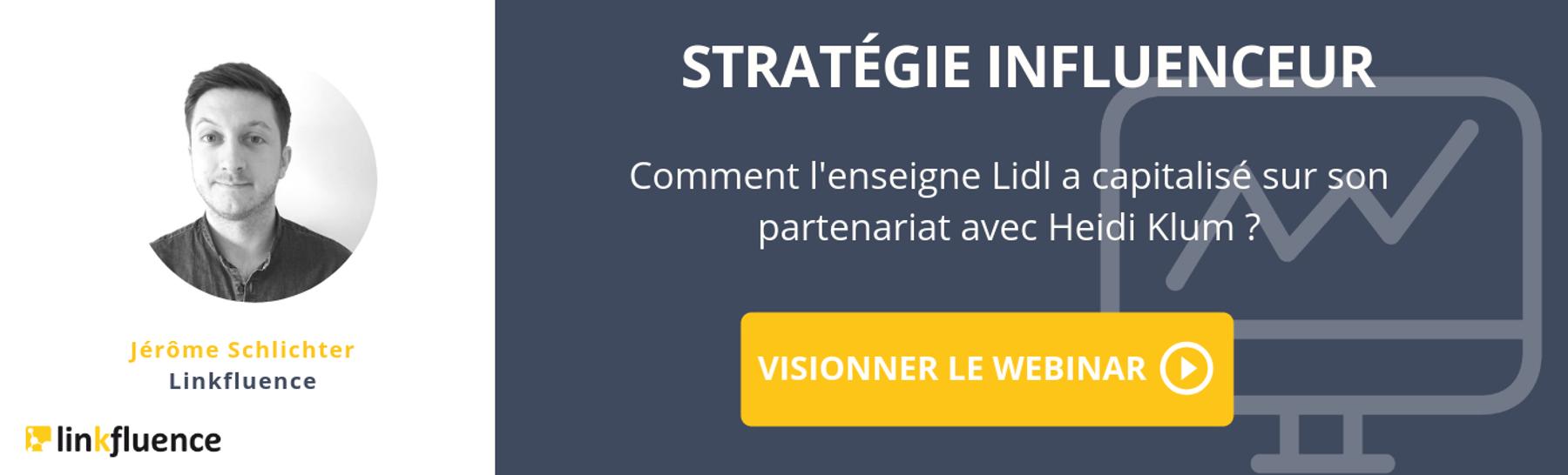 Webinar stratégie influenceur