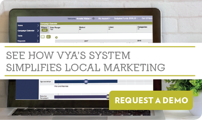 See how Vya's system simplifies local marketing - Request a Demo
