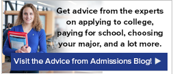 Visit the Advice from Admissions Blog!