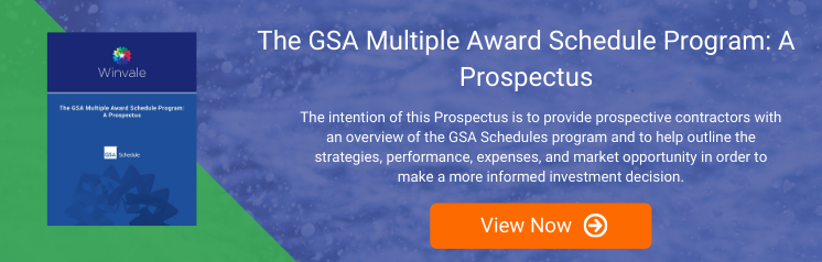 The GSA Multiple Award Schedule Program: A Prospectus